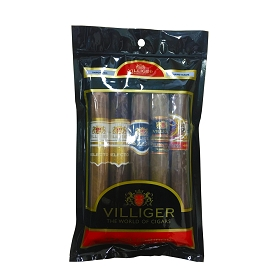 Villiger 5 Ct Cigar Mixed Sampler in a portable humidor