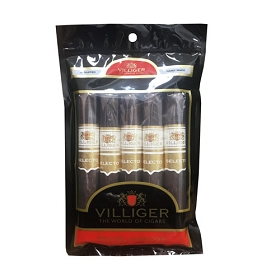 Villiger Selecto - Maduro - 5 ct Cigar pack in a portable humidor