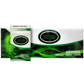 OHM Filtered Cigars Menthol