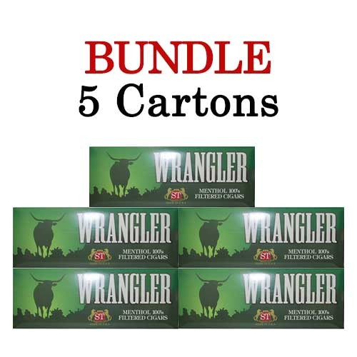 Wrangler Filtered Cigars Menthol BUNDLE 5