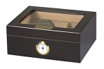 Capri Glass Top Cigar Humidor Mahogany