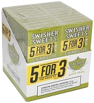 Swisher Sweets Cigarillo White Grape 5 Pack (5FOR3)