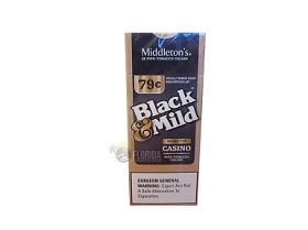 Black & Mild Casino Cigars Wood Tip Box $0.79 Pre-Priced