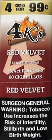 4 Kings Cigarillos Red Velvet Pre-Priced