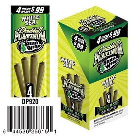 Double Platinum Blunt Wraps White Sea Pre-Priced 4 for $0.99