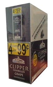 Clipper Cigarillos Grape 15/4 Pouch Pre-Priced
