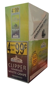 Clipper Cigarillos White Grape 15/4 Pouch Pre-Priced