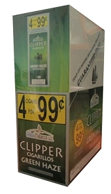 Clipper Cigarillos Green Haze 15/4 Pouch Pre-Priced