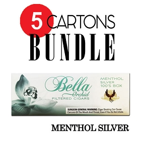 Bella Filtered Cigars Menthol Silver (Ultra Light) - Bundle5