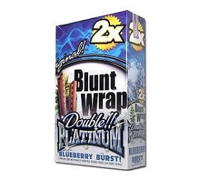 Double Platinum Blunt Wraps Blueberry 2X