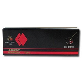 Double Diamond Filtered Cigars Black Cherry 100's