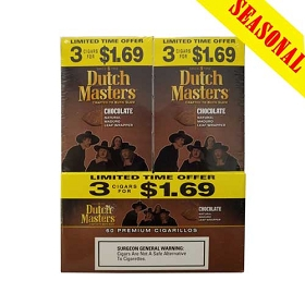 Dutch Masters Cigarillos Chocolate Foil 60 Ct Pre-Priced (3 x $1.69)