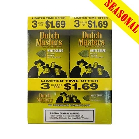 Dutch Masters Cigarillos White Grape Foil 60 Ct Pre-Priced (3 x $1.69)