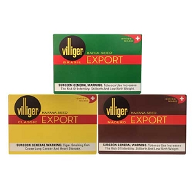 Villiger Export Natural - 5 x 3 Packs (Different Flavors)