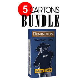 Remington Filtered Cigars Light (Blue) BUNDLE 5