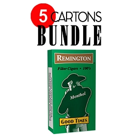 Remington Filtered Cigars Menthol BUNDLE 5