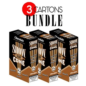 Show Blunt Cone Cigar Chocolate BUNDLE 3
