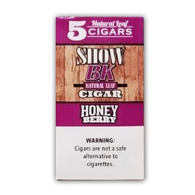 Show BK Natural Leaf Cigars Honey Berry - 8x5 Pack
