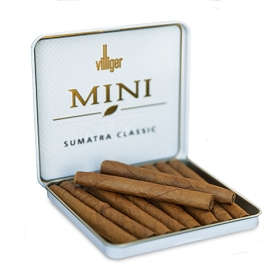 Villiger Mini Cigarillos Sumatra Classic NON Filtered (10 Tins of 10)