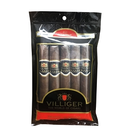 Villiger 125 (Anniversary) - 5 ct Cigar pack in a portable humidor