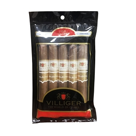 Villiger Selecto - Connecticut - 5 ct Cigar pack in a portable humidor