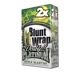 Double Platinum Blunt Wraps Apple Martini 2X
