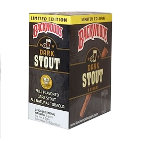 Backwoods Dark Stout Cigars 5 Pack