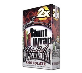 Double Platinum Blunt Wraps Chocolate 2X