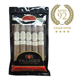 Villiger Cuellar Connecticut Kreme Torpedo - 5 ct Cigar pack in a portable humidor