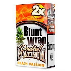 Double Platinum Blunt Wraps Peach 2X