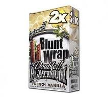 Double Platinum Blunt Wraps French Vanilla 2X