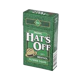 Hat's Off Filtered Cigars Menthol