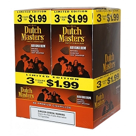 Dutch Masters Cigarillos Havana Rum Foil 60 Ct Pre-Priced