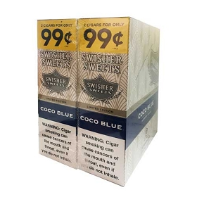 Swisher Sweets Cigarillos Foil Pack Coco Blue Pre-Priced