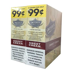 Swisher Sweets Cigarillos Foil Pack Sweet Cream Pre-Priced