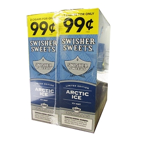 Swisher Sweets Cigarillos Foil Artic Ice Pre-Priced