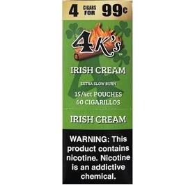 4 Kings Cigarillos Irish Cream Pre-Priced