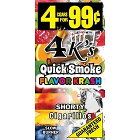 4 Kings Cigarillos Flavor Krash (Shorty) Pre-Piced