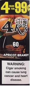 4 Kings Cigarillos Apricot Brandy Pre-Piced