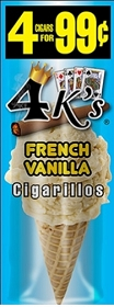 4 Kings Cigarillos French Vanilla Pre-Piced