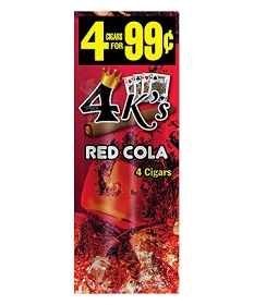 4 Kings Cigarillos Red Cola Pre-Piced