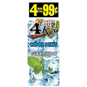 4 Kings Cigarillos Cool Mint Pre-Piced