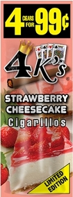 4 Kings Cigarillos Strawberry Cheesecake Pre-Piced