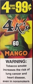 4 Kings Cigarillos Mango Pre-Piced