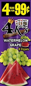 4 Kings Cigarillos Melon Grape Pre-Priced