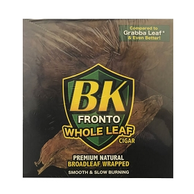 BK Fronto Natural WHOLE Leaf Cigars Wraps 10 Ct