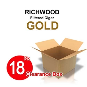 Richwood Filtered Cigars GOLD - 18 Pk Clearance Box
