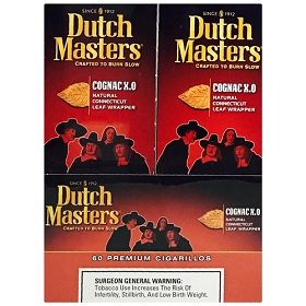 Dutch Masters Cigarillos Cognac X.O Foil 60 Ct