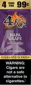 4 Kings Cigarillos Napa Grape Pre-Piced