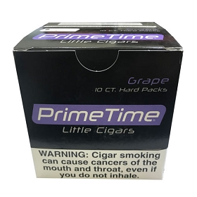 Prime Time Little Cigars Grape 10 Packs of 10